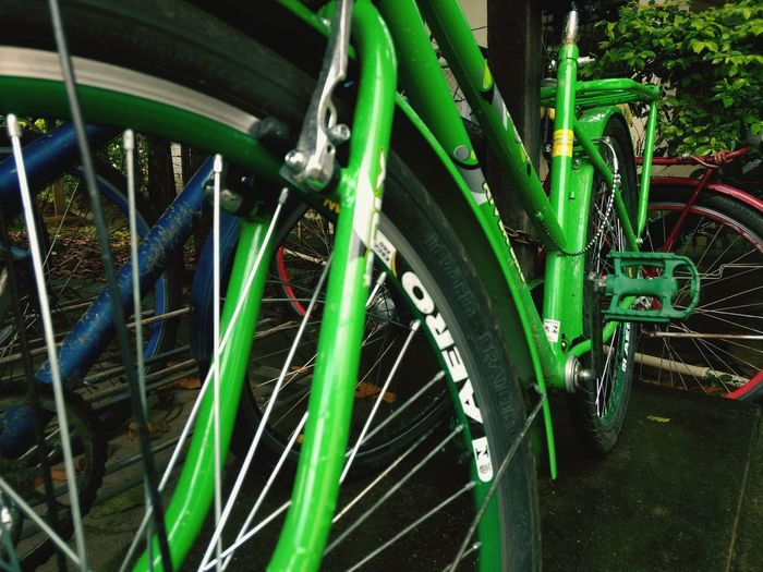 color predominance Bicycle Rack Tire Bicycle Spoke Stationary Land Vehicle Wheel Close-up Green Color Grass Mountain Bike Parking Racing Bicycle Scooter Parking Sign TRIATHLON Triathlete Riding Horseback Riding Motor Scooter Bicycle Shop Bicycle Basket Cycling Helmet Cycling Parking Lot Handlebar Biker Uphill Tirol  Bmx Cycling