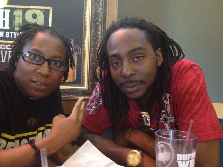 My brother And I chilling at #BuffaloWildWings
