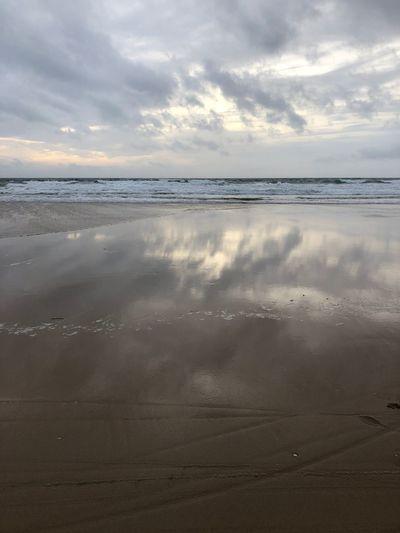 Sky reflected on ocean Sky Clouds Reflex Sunset Ocean