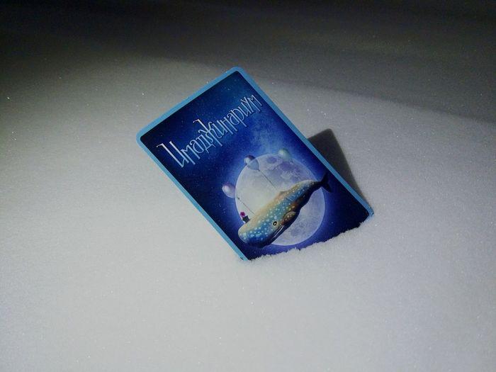 Imagine everything Snow Imaginarium Imagination Card Blue Close-up