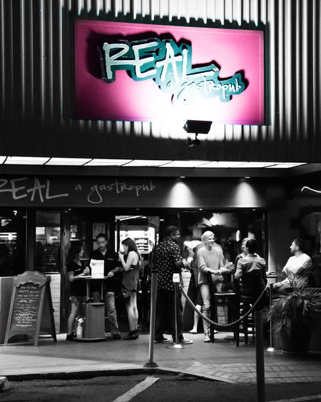 Real A Gastropub Bar Scene Beer Time Blackandwhite Gathering Hanging Out Lifestyles Lounge Nightlife People People Watching Pink Color Restaurant Taking Photos Taking Pictures With Friends