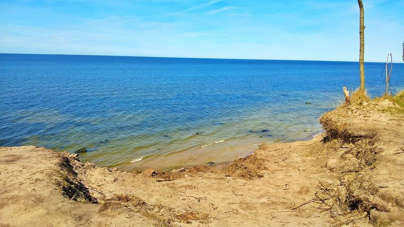Beach Beauty In Nature Blue Day Horizon Horizon Over Water Idyllic Land Nature No People Non-urban Scene Outdoors Sand Scenics - Nature Sea Sky Tranquil Scene Tranquility Turquoise Colored Water EyeEmNewHere