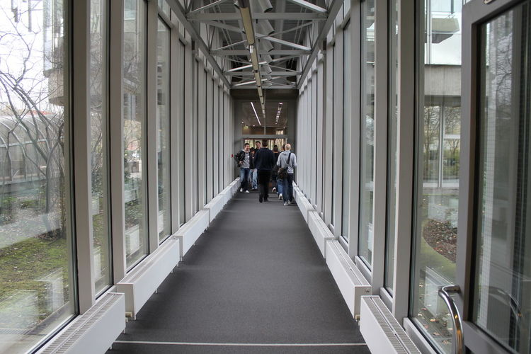 Full length of woman walking on walkway