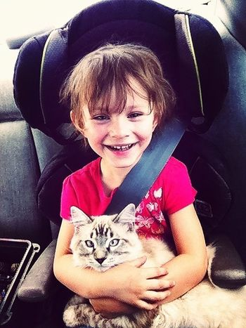 Kids And Animals  My Kitty Cat All Smiles ツ