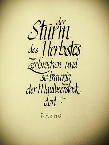 Haiku Basho Kalligraphie Calligraphy Haiku Words Poetry Basho Matsuo Basho Paper View