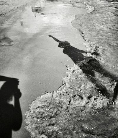 Monochrome Photograhy Water Shadow Nature Day Outdoors Scenics Blackandwhitephotography Shadows & Lights Shadow Photography Shadows And Silhouettes Sea Montenegro2016 Waterfront Human Feet Made By Me Aurora Minna