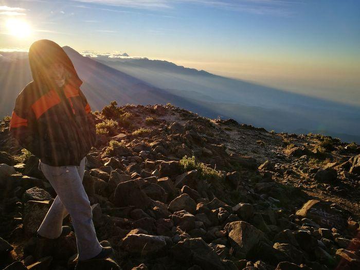 Hiker Shining