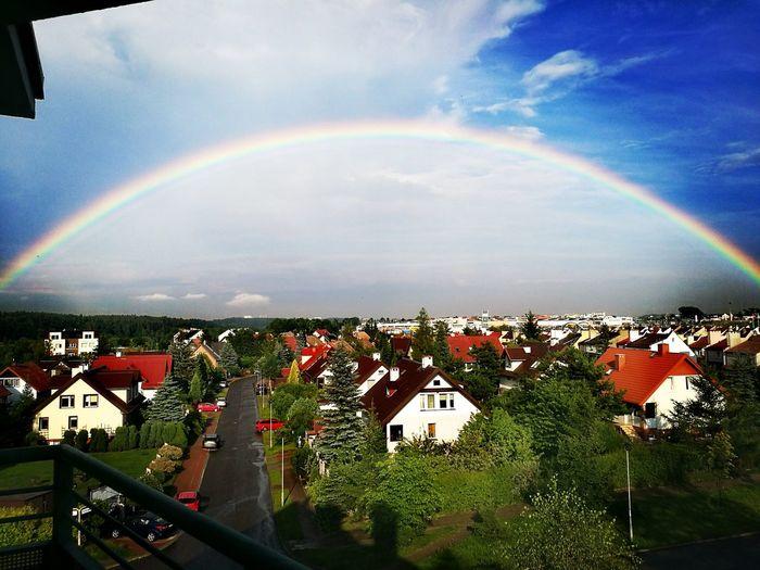 Rainbow Sky Rainbow🌈 Beautiful Sky Beautiful View :)