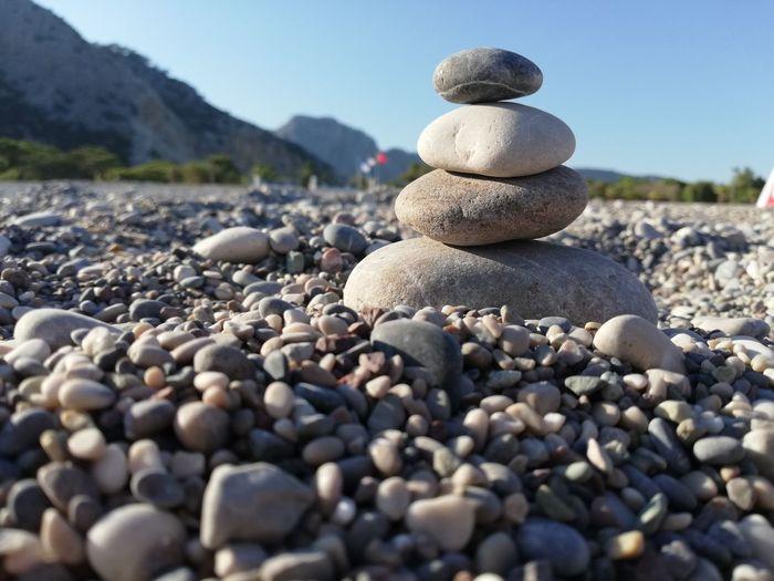 #photography #EyeEmNewHere #NoFilter #EyeEm #eyemturkey #Nature  Pebble Beach Water Beach Sea Pebble Stack Rock - Object Stone - Object Close-up Sky