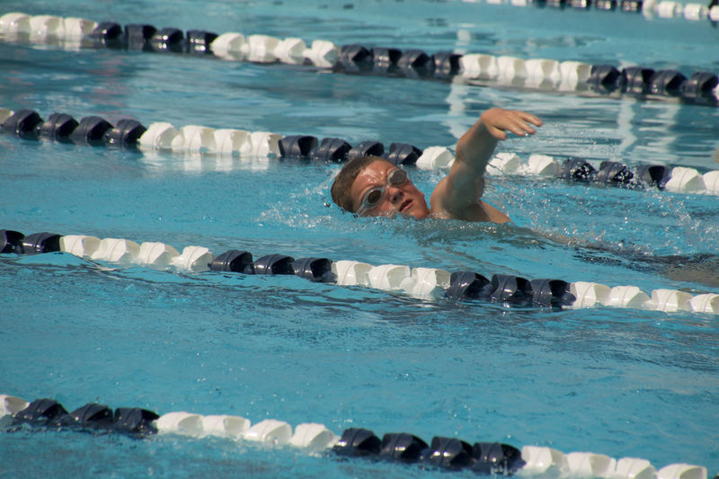 Swim Meet Action Shot  Boy Outdoors People Splashing Swim Meet Swimming Pool Water