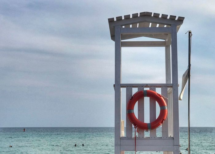 Salvagente Cielo Orizzonte Torre Bagnino Spiaggia Blue Sun Beach Sabbia Puglia Mare Sky Water Sea Cloud - Sky Life Belt Safety Lifeguard