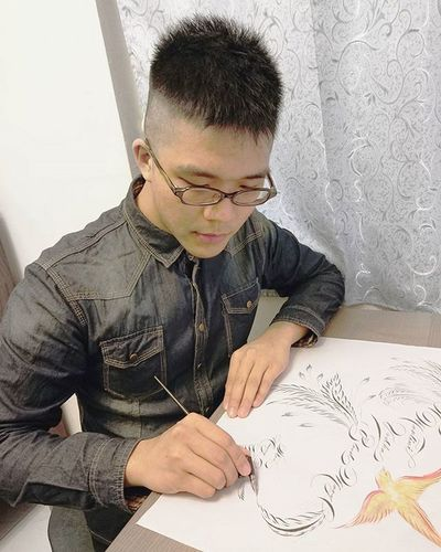 My lettering art work. 書畫的創作是享受的。 Art Design Calligraphy Illustration Ink Nib Penmanship Gothic Calligraphy Art Lettering Fashion Colorful Colors Ink Pencil Pen Nib Design Beautiful Painting Drawing Brush Writing Paper designer artwork work fun artist penmanship calligrapher calligraphicpen handcrafted handmade