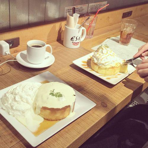 [2015/01/31] ハンモックカフェでスフレホットケーキ◎٩(๑´3`๑)۶◎ メープルクリームチーズ クルミカスタードキャラメル @Cafe ASAN / 2k540 AKI-OKA ARTISAN