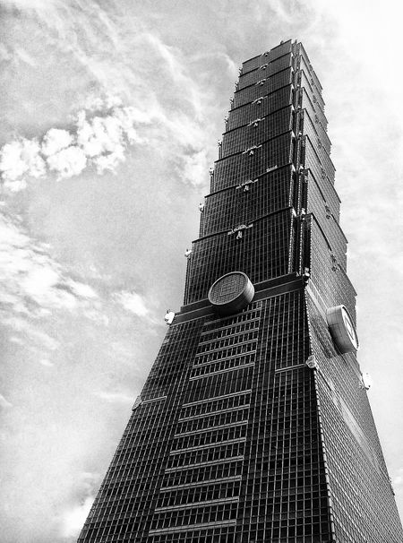 View Blackandwhite Black And White Black & White Black&white Black And White Photography Blackandwhite Photography Pattern, Texture, Shape And Form Blackandwhitephotography Htc One M8 View Office Building Taipei 101 Cityscape The Architect - 2015 EyeEm Awards Building Exterior