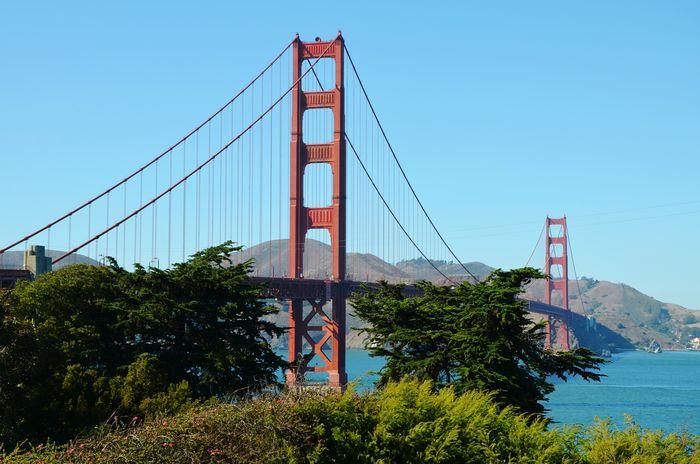 Traveling Sky Bridge Golden Gate Bridge USA Bridges San Francisco California United States Sanfrancisco GoldenGateBridge Man-made Structure
