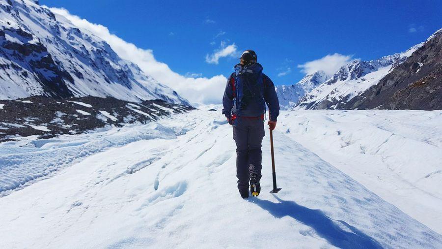 Hiking the Tasman Glacier in NZ Snow Winter Outdoors Mountain Glacier New Zealand First Eyeem Photo Snow Sports