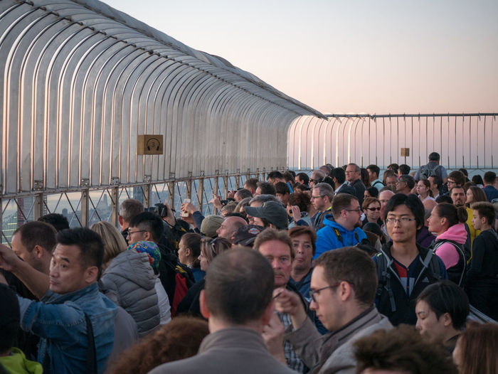 Group Of People Crowd Large Group Of People Real People Architecture Men Sky Women Adult Built Structure Leisure Activity Lifestyles Nature Standing Travel Destinations Travel Building Exterior Tourism Sunset World Trade Center