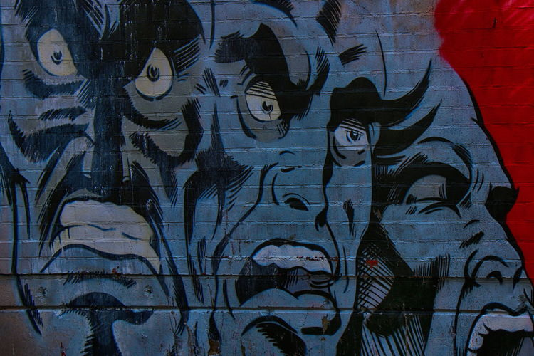 Grafitiart from the NSA-Listeningstation at the Teufelsberg in Berlin Abhörstation Teufelsberg Not For Sale Comic NSA Station Berlin Teufelsberg Berliner Ansichten Berlin Photography Close-up Architecture Graffiti Street Art Spray Paint Spray Bottle Art ArtWork