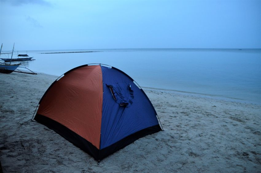 camping out Beach Miles Away Outing Quezon Quezon Province Tent