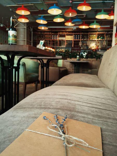 Interior Design Cafe Time Enjoying Life Relaxing Envelope Good News Lavander Interior Views
