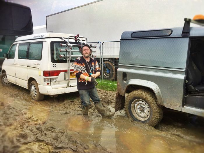 Live Music Glastonbury 2016 Dressing Room Crew Leaving Mud Camping Out Towed Working Hard Working Gig Being Saved Campervan In Mud! MeinAutomoment On The Way Two Is Better Than One