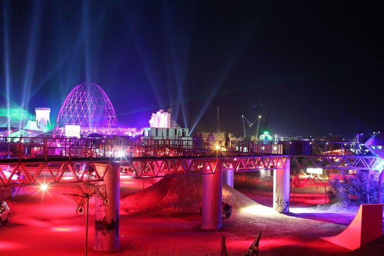 Kazantip Popovka Festival Summer Art Rave Beach Lights Night Dance Event Memories Bridge TakeoverMusic Carnival Crowds And Details