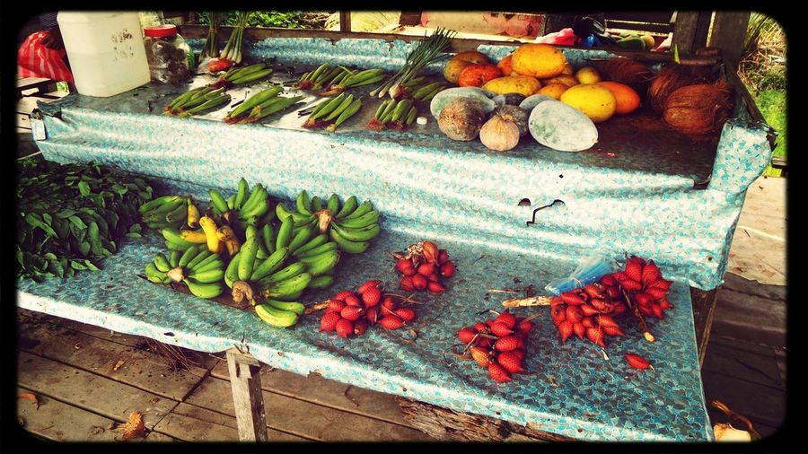 Local fruits and vegetables stall in rural area in Bintulu Forest Path Fruits And Vegetables stall
