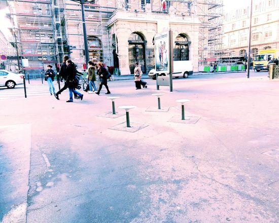 Showcase March Paris, France  Streetart/graffiti Streetphotography Jules Joffrin Macadam Square Walking Around The City  Pastel Power Up Close Street Photography The Street Photographer - 2016 EyeEm Awards The Following The City Light Millennial Pink