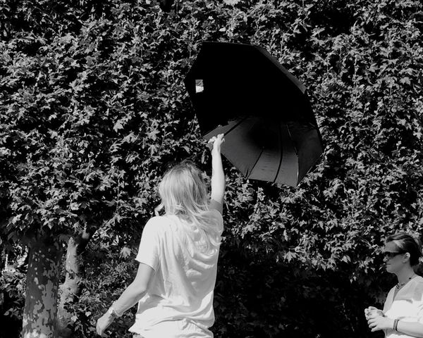Happy Bastille Day. Black & White Black And White Blackandwhite People Peoplephotography People Photography Umbrella Happy People Party Summertime