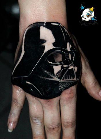 Inked Tattooed Girl Star Wars Darth Vader