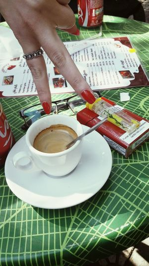 Friendship. ♡   Algiers Algeria. Coffee Time Coffee Cup Nice Moment Human Body Part Healthy Lifestyle Human Hand Lifestyles Women One Person People Tea - Hot Drink One Woman Only Outdoors Only Women Body Care Adult Adults Only Day