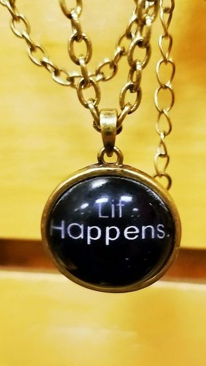 Lit Happens Lit Lithappens Necklace Chain Chainlink Jewelry Funny Black Yellow Brown Itslit