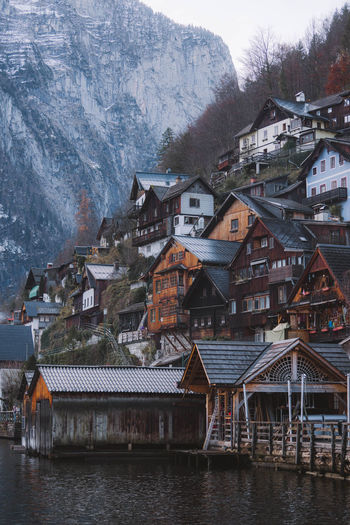 Architecture Built Structure Building Exterior Building House Water Residential District Mountain Nature Waterfront No People Outdoors River TOWNSCAPE Nature Nature_collection Nature Photography Austria Mood Moody Sky Architecture Day Town