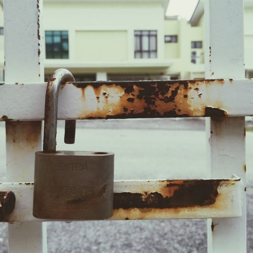 Safety First! Rusty Building Exterior Day Built Structure Outdoors No People Architecture Close-up City Sky Lock Old