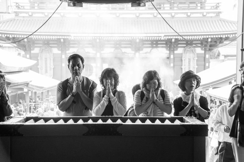 Natural Light Portrait Praying Pray Temple Ultimate Japan