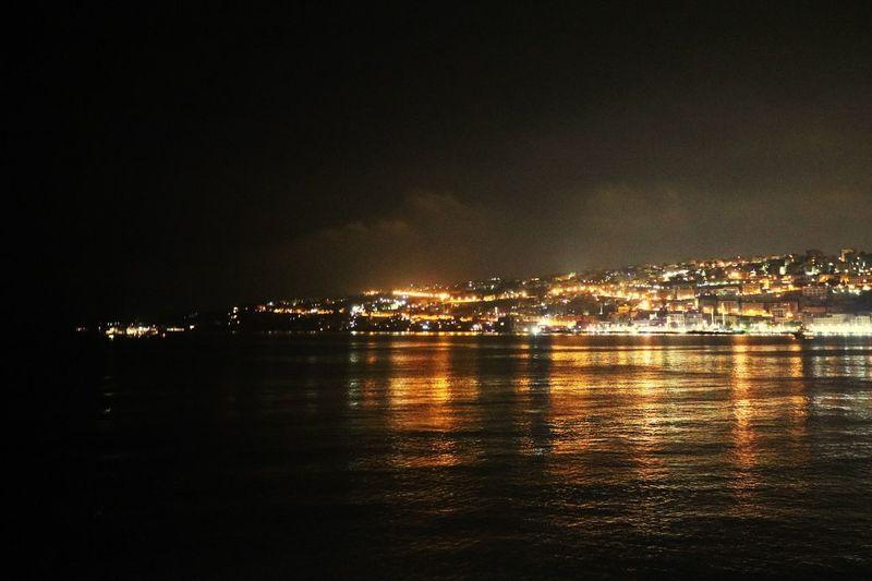 Night Illuminated Water Nature