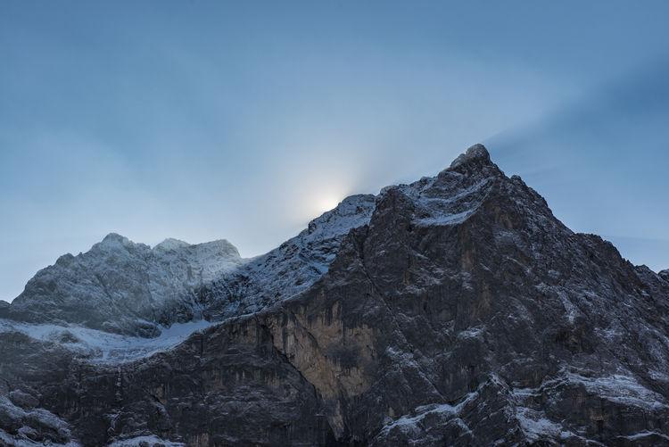 Karwendel_Gebirge Mountain Mountain Peak Sky Beauty In Nature Rock No People Outdoors Nature Sun Beams Mountain Range Tranquility