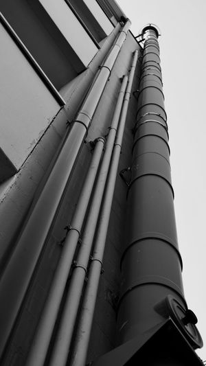 Architecture Pipe - Tube Built Structure Factory Building Exterior Industry Smoke Stack Low Angle View Social Issues No People Day Power Station Outdoors Sky Metal Industry Low Angle View Full Frame Shadow Photography The Architect - 2017 EyeEm Awards Architecture Futuristic