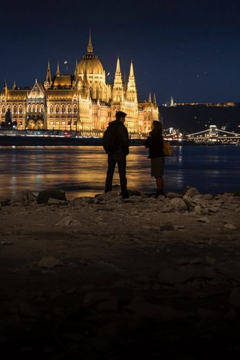 The conversation View City Life Cityscape City Nightphotography Hungary Budapestbynight Budapest Streetphotography Budapest, Hungary Tamasschober Budapest Architecture Parlament Of Hungary Parlament Parliament Night Architecture Travel Destinations Built Structure Outdoors Building Exterior Sky