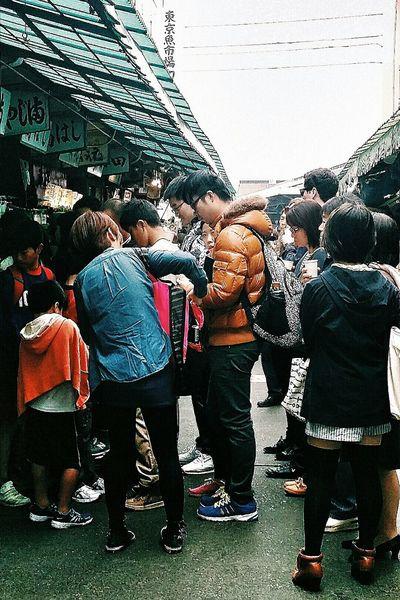 Queues Restaurants Fresh Seafood Outer Market Tsukiji Fish Market Tokyo Japan Travel Photography