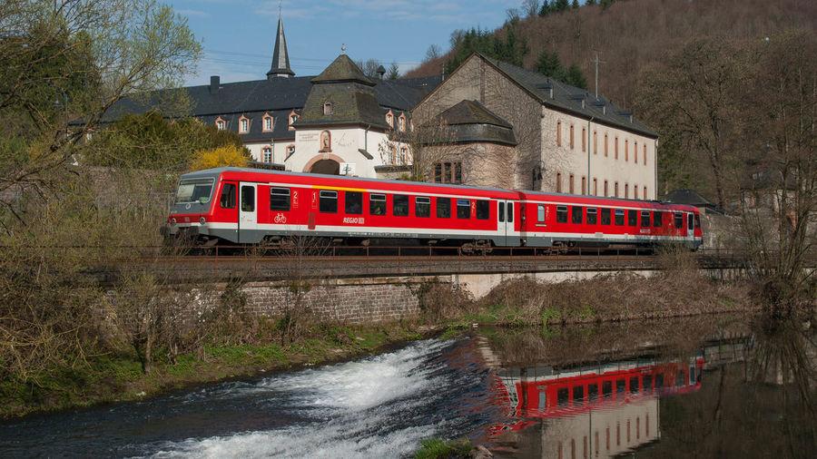 Deutsche Bahn Eifel Germany Eisenbahn Kloster Luxembourg Railway St. Thomas An Der Kyll