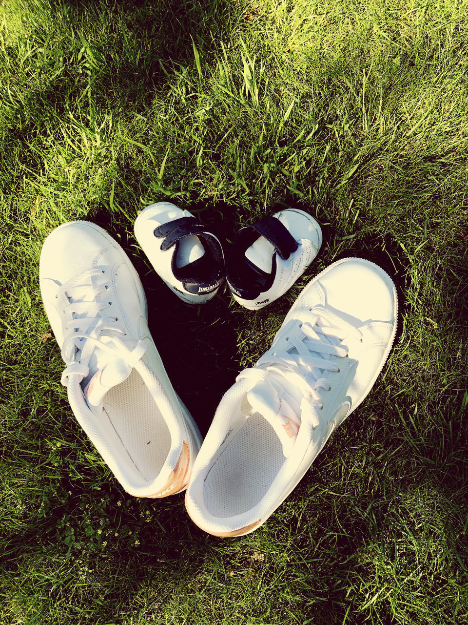 HIGH ANGLE VIEW OF SHOES ON GROUND