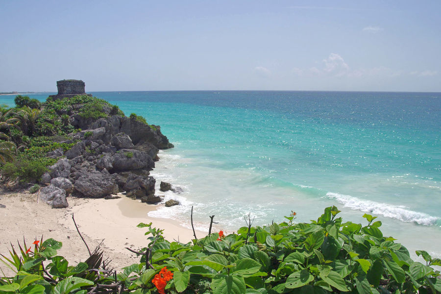 Carribean Cliff - Turquoise Sea - Tulum - Quintana Roo - Mexico Beach Beauty In Nature Carribean Cliff Horizon Over Water Landscape Maya Mayan Ruins Mexico Nature No People Outdoors Quintana Roo Rock - Object Scenics Sea Temple - Building Tranquil Scene Turquoise Colored