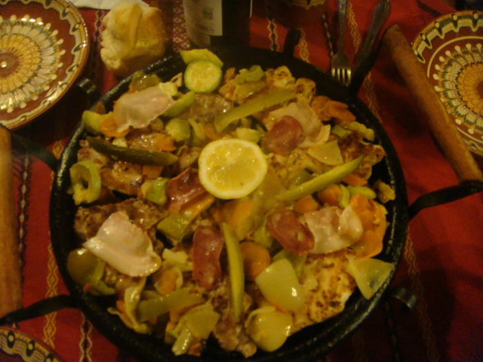 Food Indoors  Meat And Green Yellow Vegetables Night No People Paiting Traditional Dishes Plate Ready-to-eat Traditional Bulgar Dish