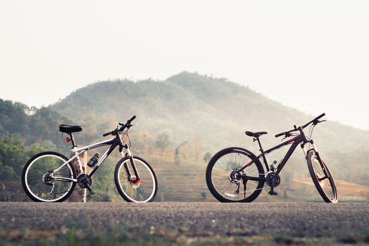 Two Bicycles Outdoors
