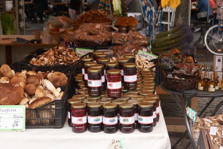 Food for sale at market