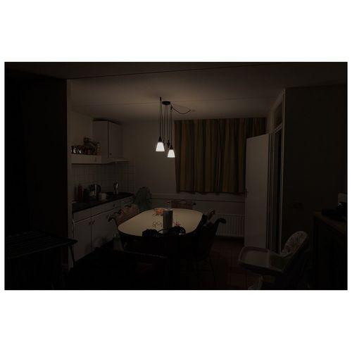 Illuminated house at home