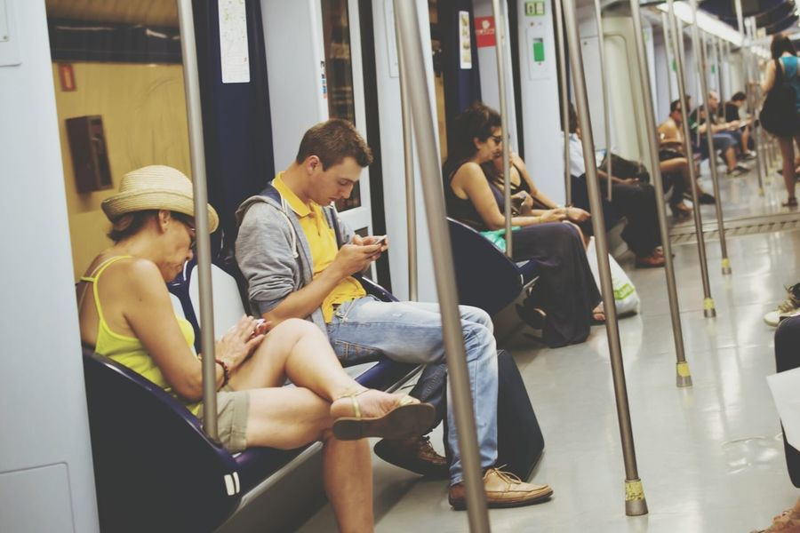 Snapshots Of Life Relaxing Spain♥ Madrid Metro Piople Traveling Underground Urban Lifestyle