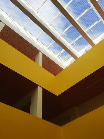Architecture Built Structure Yellow Low Angle View Building Exterior Indoors  No People