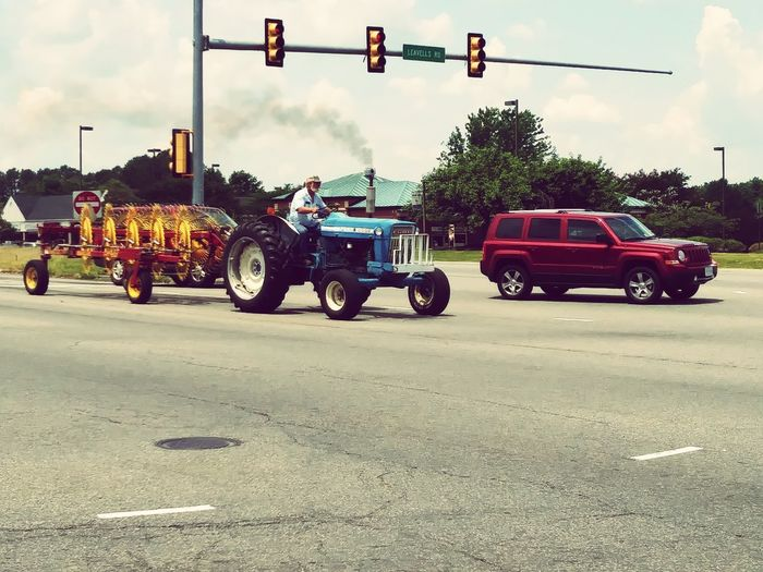 Transportation Mode Of Transport Road Car Day Land Vehicle Outdoors Cloud - Sky Only Men People Tractorporn Tractors Among Us Tractor Drivin Farm Equipment Farmporn Stuck In Time American Iron Driving Through Time Tractor American Made Let's Go. Together.